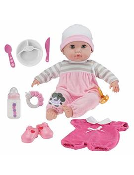 """Berenguer Boutique 15"""" Soft Body Baby Doll   Pink 10 Piece Gift Set With Open/Close Eyes  Perfect For Children 2+ by Jc Toys"""