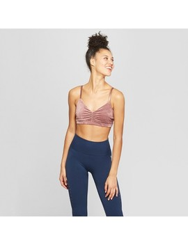 Women's Velour Twist Back Sports Bra   Joy Lab™ by Joy Lab