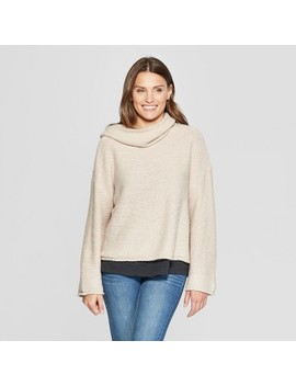 Women's Cowl Neck Pullover   Universal Thread™ Beige Linen by Universal Thread