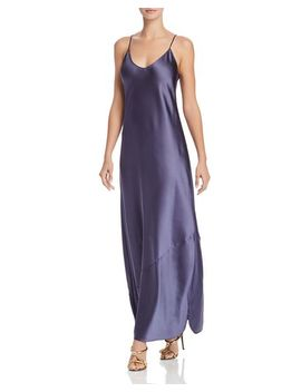 Satin Maxi Slip Dress   100 Percents Exclusive by Happily Grey X Aqua