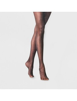 Women's Clean Herringbone Tights   A New Day™ Black by A New Day