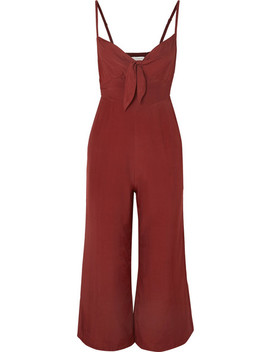 Presley Cropped Tie Front Voile Jumpsuit by Faithfull The Brand