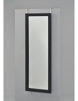 Black Finish Wooden Cheval Bedroom Wall Mount Mirror Or Over The Door by E Home Products