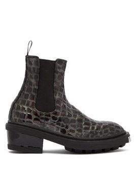 Nikita Crocodile Effect Leather Chelsea Boots by Eytys