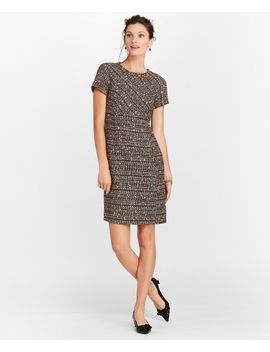Boucle Short Sleeve Sheath Dress by Brooks Brothers