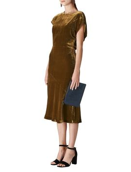 Mina Velvet Midi Dress by Whistles