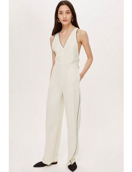 Tall Pinstripe Jumpsuit by Topshop