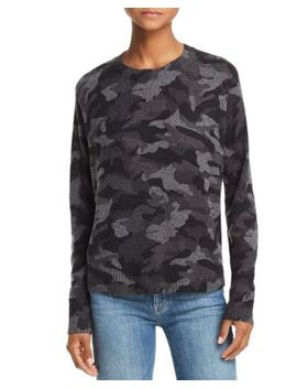 Camo Crewneck Cashmere Sweater   100 Percents Exclusive by Aqua Cashmere