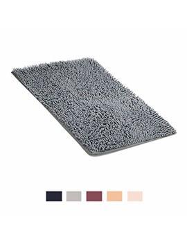 Alopex BekvÄmt Bath Mat Non Slip Super Absorbent Soft Mat For Bathroom Living Room Kitchen Bedroom,40 * 60cm,Grey by Alopex