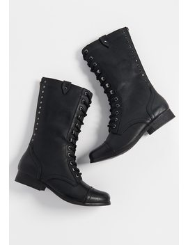 Paige Lace Up Mid Calf Boot by Maurices