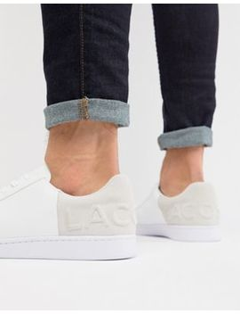Lacoste – Carnaby Evo 318 6 – Sneaker In Weiß Und Grau by Asos