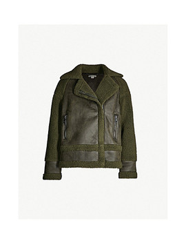 Borg Biker Faux Leather And Faux Shearling Jacket by Whistles