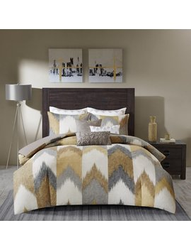 Ink+Ivy Alpine Yellow Cotton Printed Comforter Mini Set by Ink And Ivy