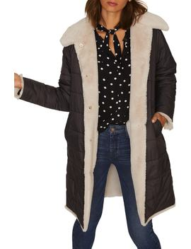 2 Be Real Reversible Puffa Faux Shearling Coat by Sanctuary