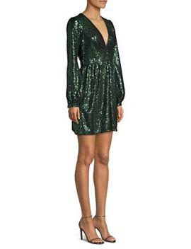 Camille Sequin Mini Dress by Saloni