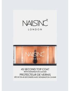 Nails Inc 45 Second Top Coat With Kensington Caviar 14ml by Nails Inc