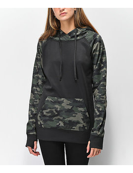 Empyre Frosty Camo & Black Tech Fleece Hoodie by Empyre