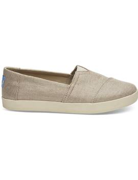 Rose Gold Metallic Woven Women's Avalon Slip Ons by Toms