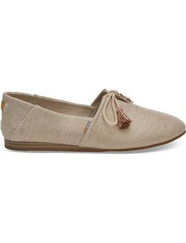 Rose Gold Metallic Woven Women's Kelli Flats by Toms