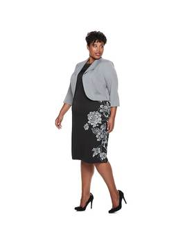 Plus Size Maya Brooke Floral Dress & Jacket Set by Kohl's