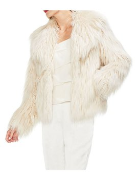 Long Hair Faux Fur Jacket by Vince Camuto