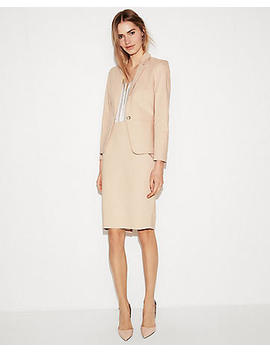 Foundation Clean Front Pencil Skirt Suit by Express