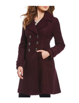 Double Breasted Wool Blend Coat by Ivanka Trump