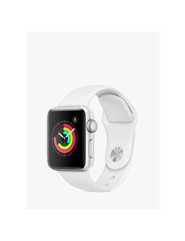 Apple Watch Series 3, Gps, 38mm Silver Aluminium Case With Sport Band, White by Apple