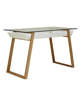 House By John Lewis Airframe Desk, White by House By John Lewis