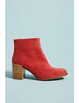 Anthropologie Corduroy Booties by Anthropologie