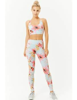 Tropical Floral Leggings by Forever 21