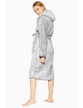 Grey Super Soft Robe by Topshop