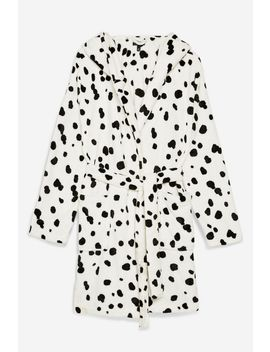 Dalmatian Print Robe With Hood by Topshop