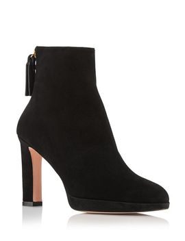 Women's Delphine Suede High Heel Booties by Stuart Weitzman