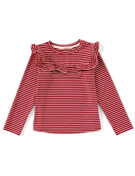 Little Girls 2 T 6 X Long Sleeve Ruffle Detail Top by Copper Key