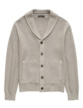 Supima® Cotton Shawl Collar Cardigan Sweater by Banana Repbulic