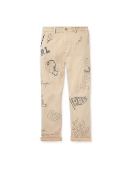 Slim Fit Cotton Graphic Chino by Ralph Lauren