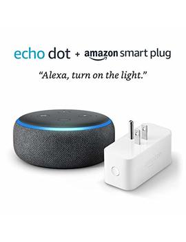 Echo Dot (3rd Gen) Bundle With Amazon Smart Plug   Charcoal by Amazon