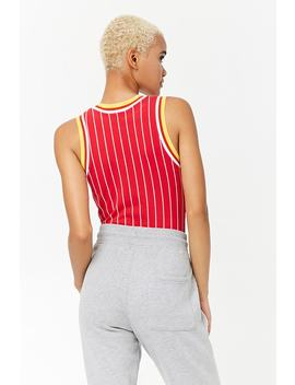 Striped Snoopy Graphic Bodysuit by Forever 21