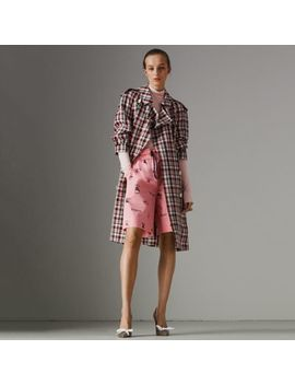 Relaxed Fit Check Trench Coat by Burberry
