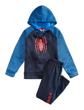 Toddler Boys 2 Pc. Spiderman Graphic Hoodie & Pants Set by Marvel