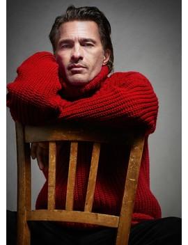 Wełniany Sweter Z Golfem by Mango