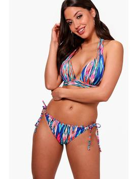 Tribal Push Up Triangle Bikini by Boohoo