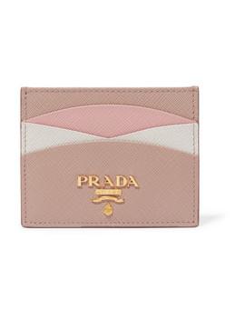 Porte Cartes En Cuir Texturé Color Block by Prada