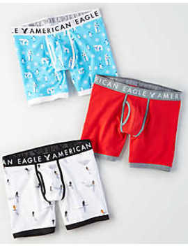 """Aeo Polar Bears 6"""" Classic Trunk 3 Pack by American Eagle Outfitters"""