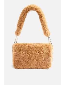 Cici Faux Fur Shoulder Bag by Topshop