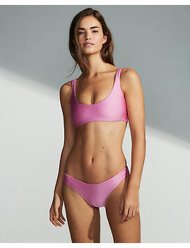 Shimmer Scoop Bikini Top by Express