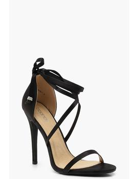 Cross Wrap Strap Sandals by Boohoo