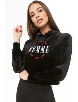 Velvet Femme Graphic Hoodie by Forever 21