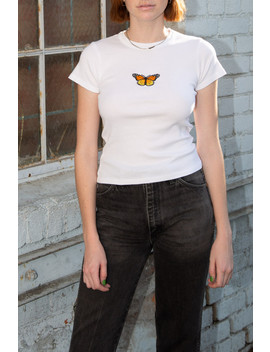 Hailie Butterfly Top by Brandy Melville